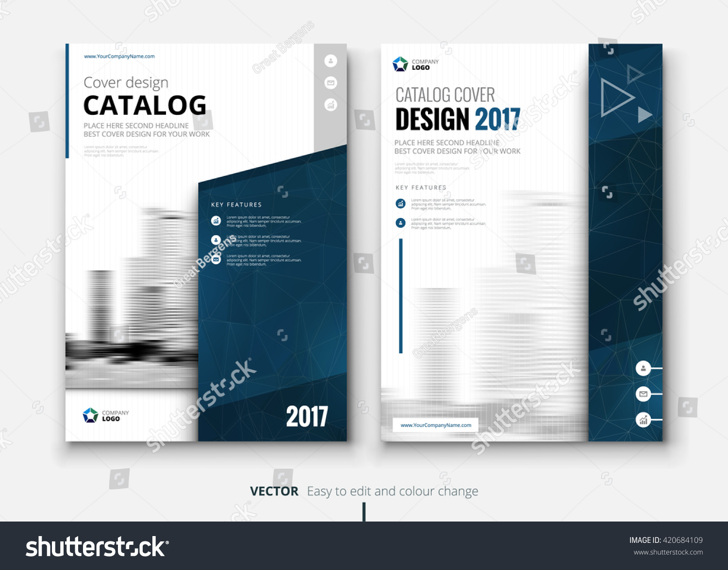 Catalog design layout design corporate business stock Create a blueprint