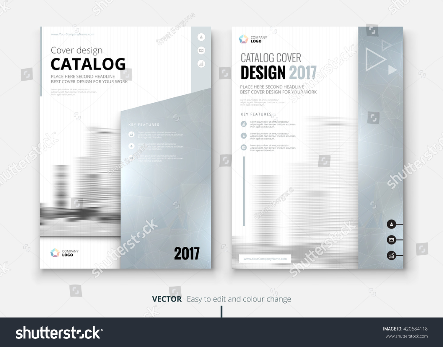 silver brochure catalog design template layout stock vector 420684118 shutterstock. Black Bedroom Furniture Sets. Home Design Ideas