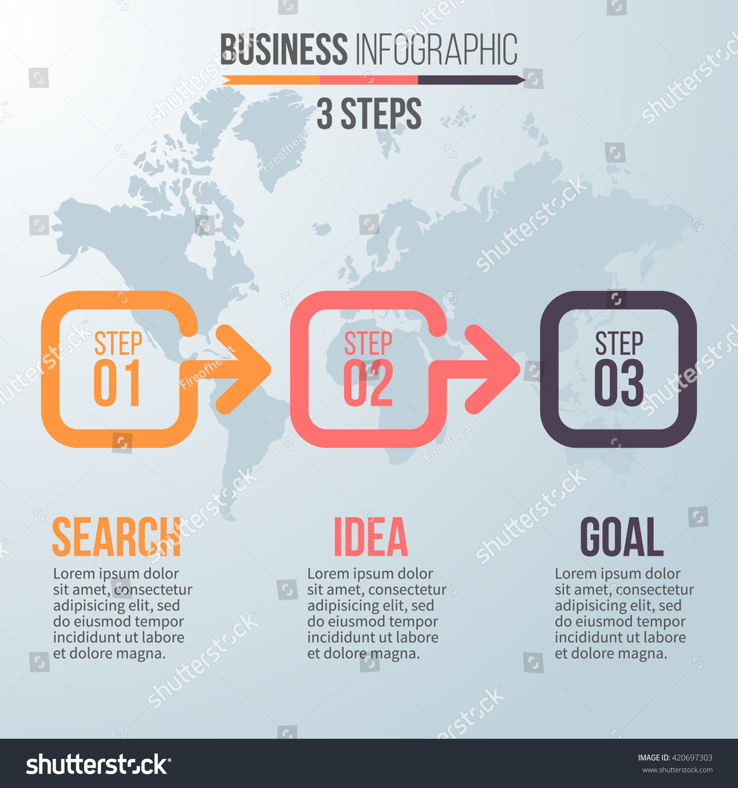 Three steps infographics vector chart diagram stock vector 420697303 vector chart diagram graph with 3 steps options ccuart Images