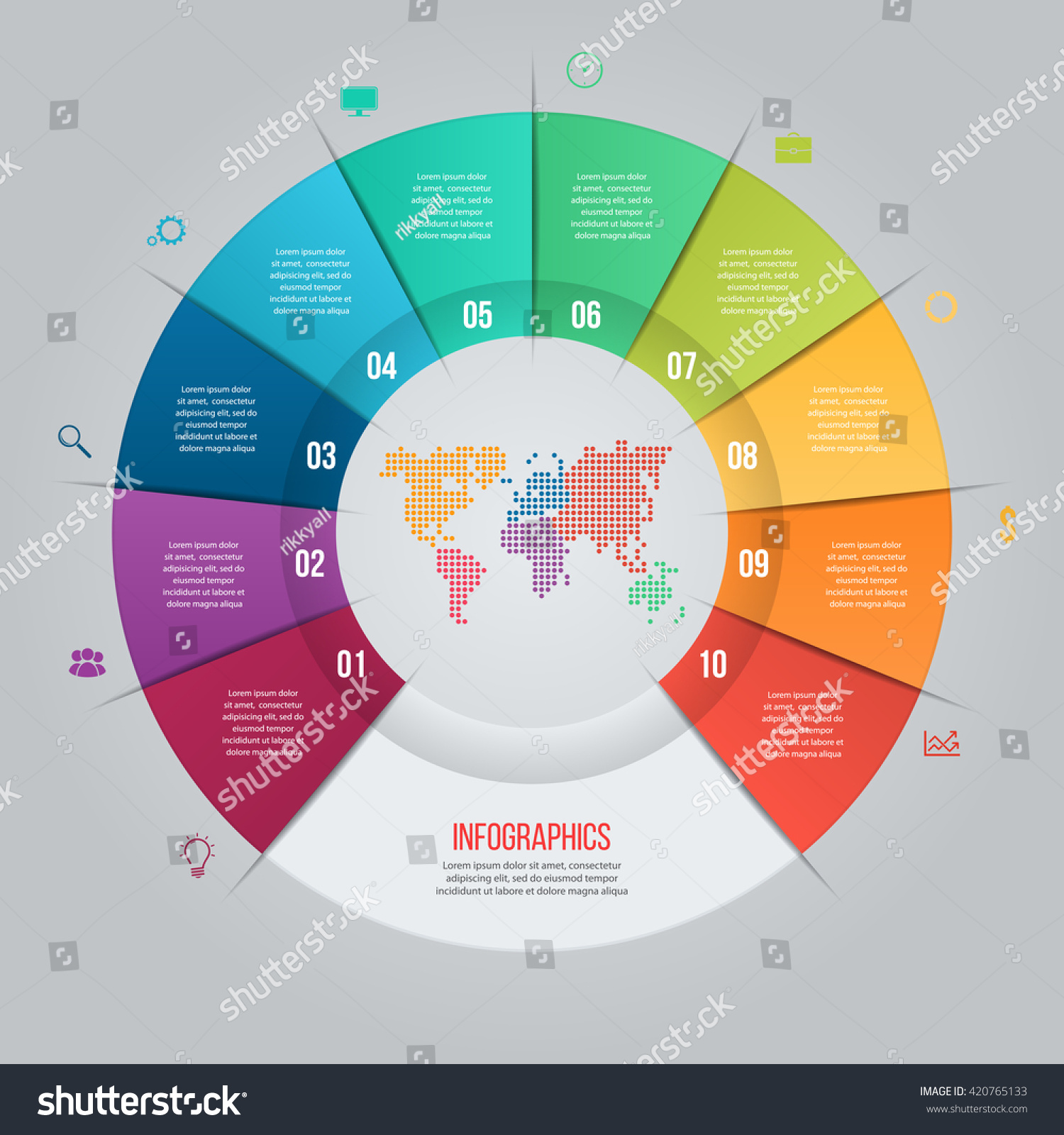 Vector Pie Chart Template Graphs Charts Vector 420765133 – Graphs and Charts Templates