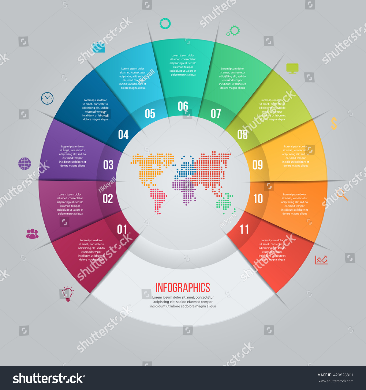 Vector pie chart template graphs charts vectores en stock 420826801 vector pie chart template for graphs charts diagrams business circle infographic concept with gumiabroncs Images