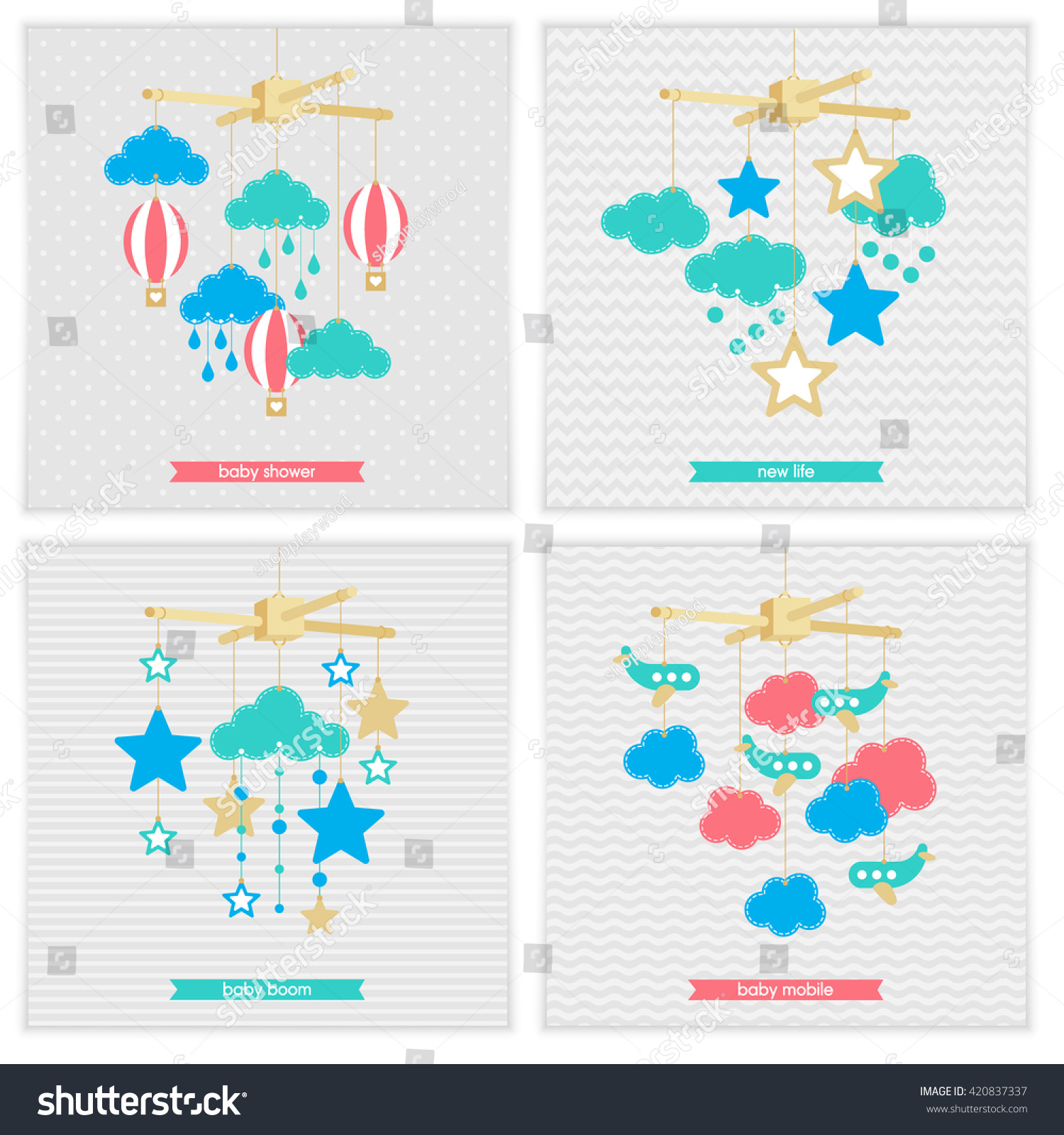 Baby Shower Invitation Template Vector Baby Stock Vector
