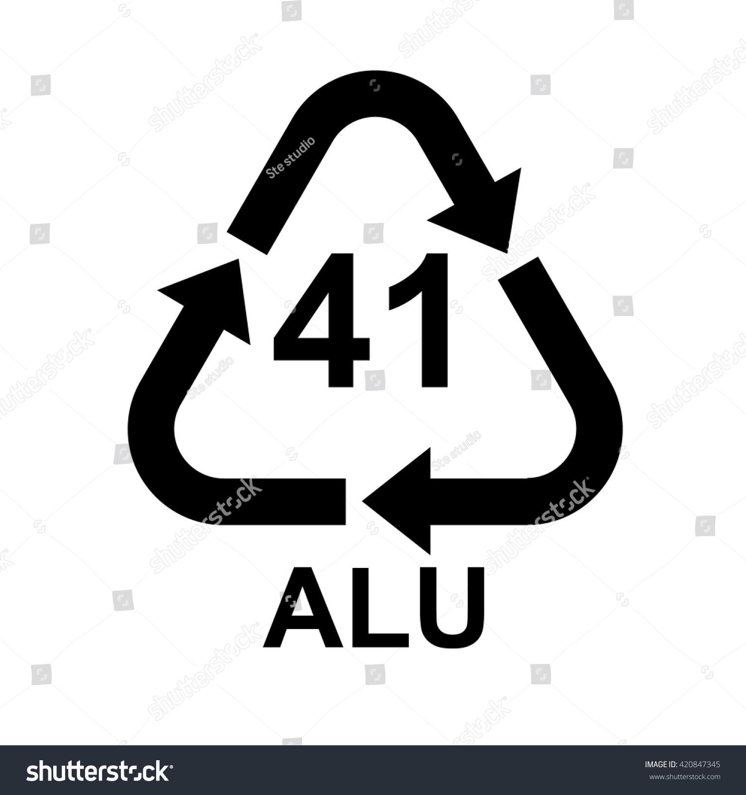 Aluminium recycling symbol alu 41 vector stock vector 420847345 aluminium recycling symbol alu 41 vector illustration biocorpaavc
