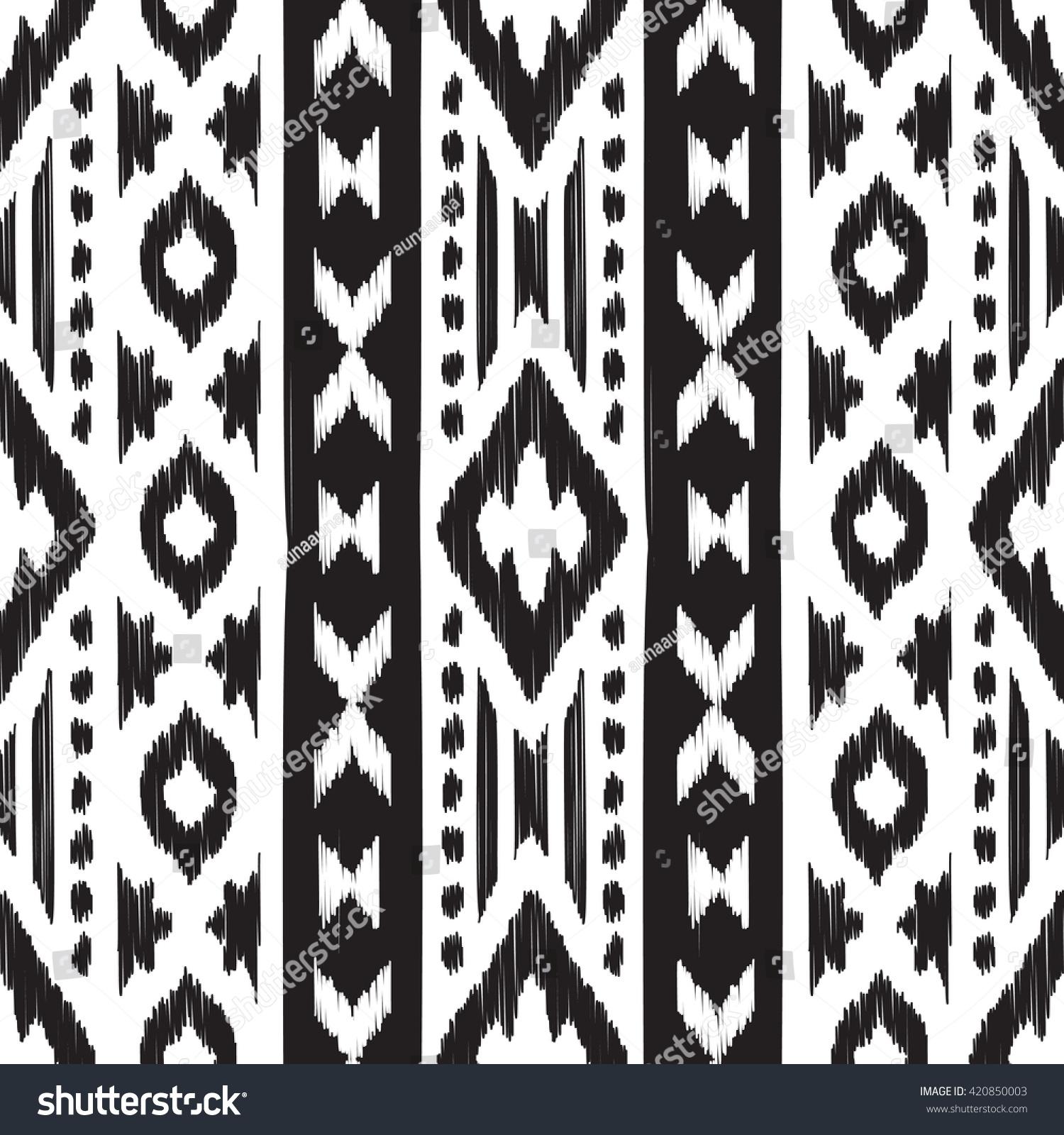 black white navajo seamless pattern american stock vector