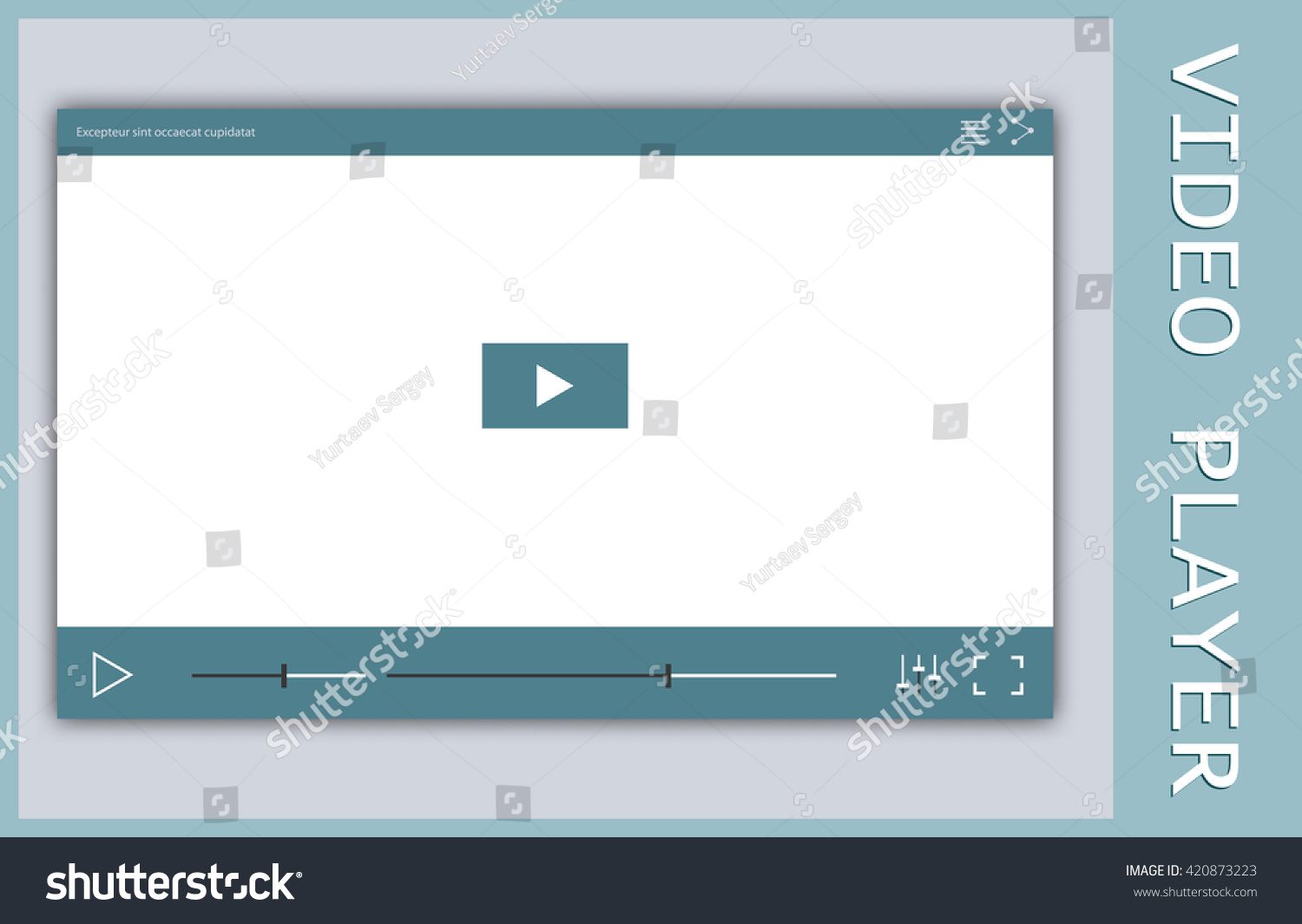 Video Player Frame Video Player Mockup Stock-Vektorgrafik 420873223 ...