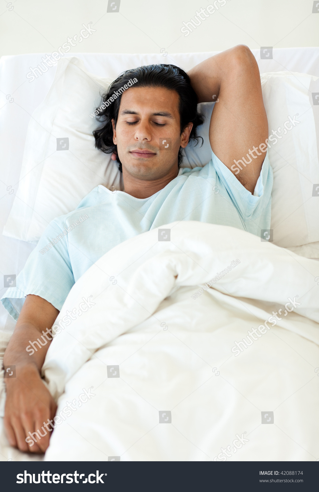 hospital bed male patient