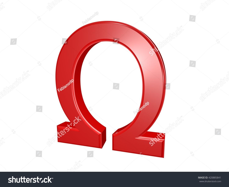 Omega greek letter isolated on white stock illustration 420885841 omega greek letter isolated on white 3d illustration buycottarizona