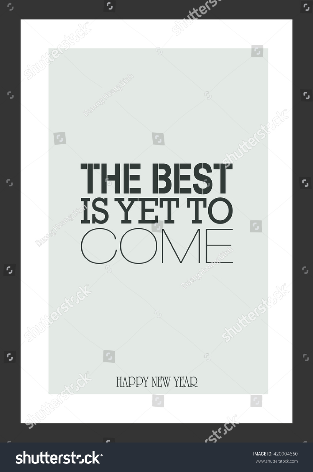 Life Quote New Year Quote Best Stock Vector Royalty Free 420904660