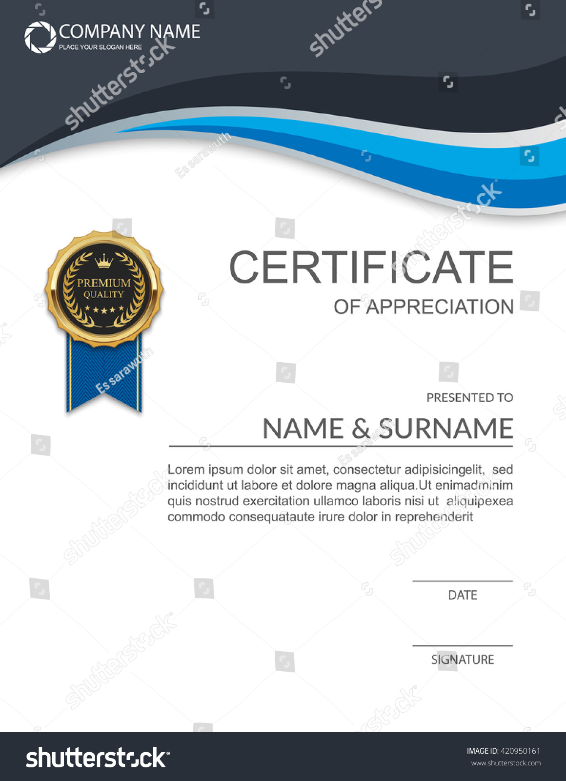 Share Certificates Template