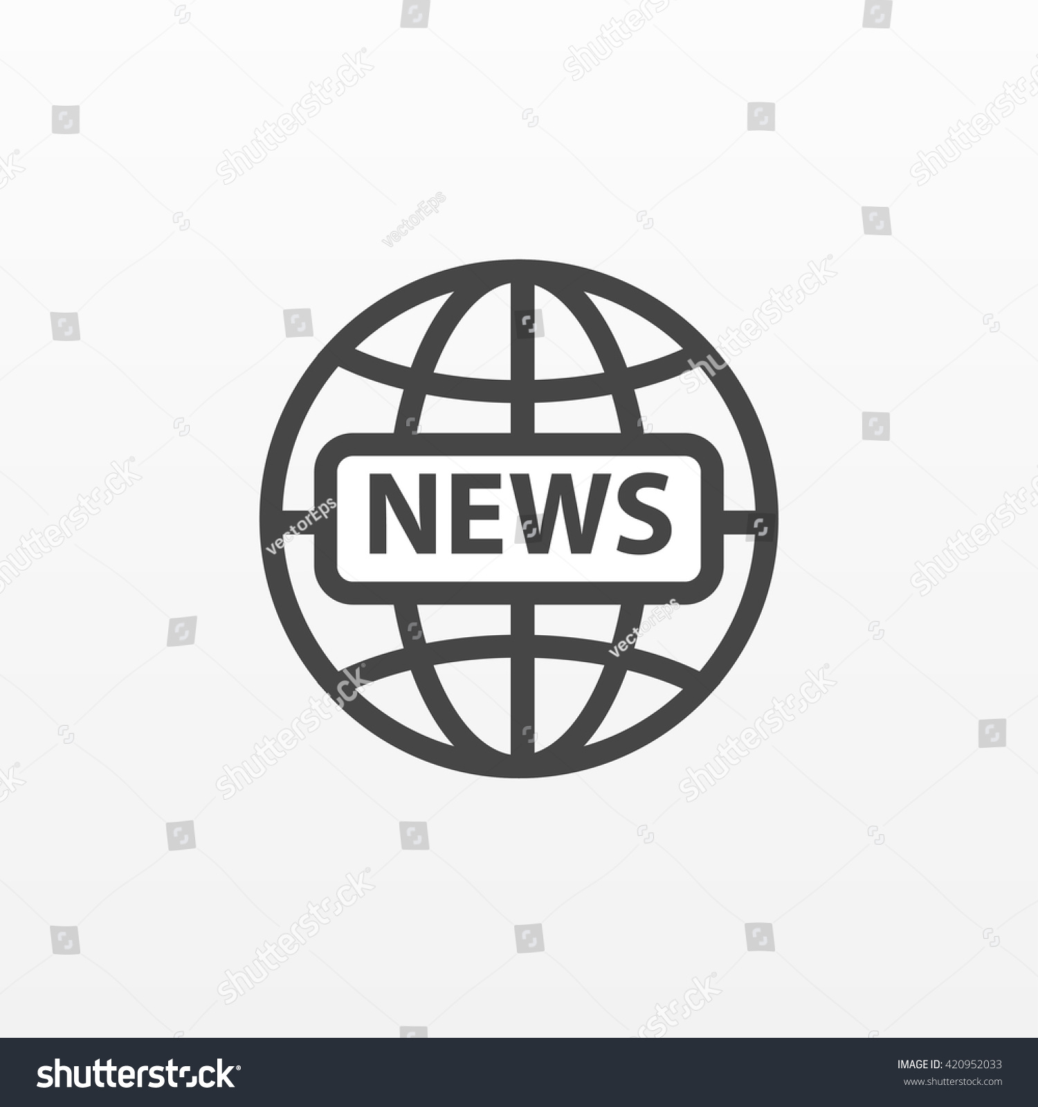 Gray news icon isolated on background Modern flat pictogram business marketing internet concept Trendy Simple vector symbol for web site design or button to mobile app Logo illustration