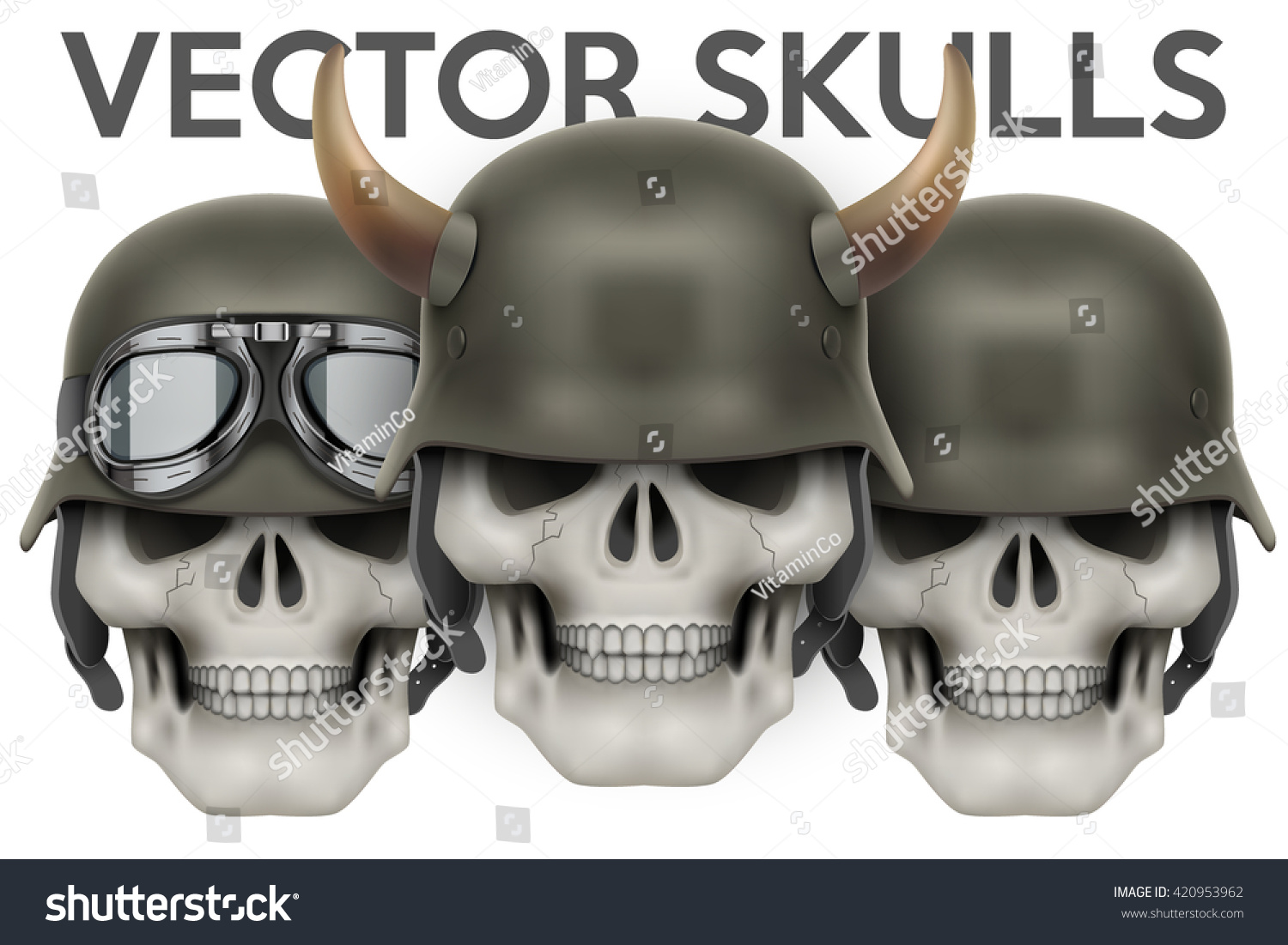 Helmet Skull Nazi Custom Stickers
