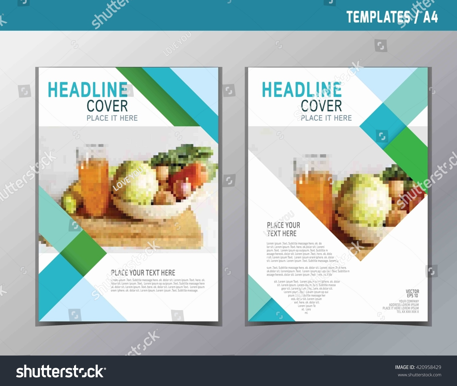 Food Book Cover Template : Flyer leaflet brochure template a size stock vector