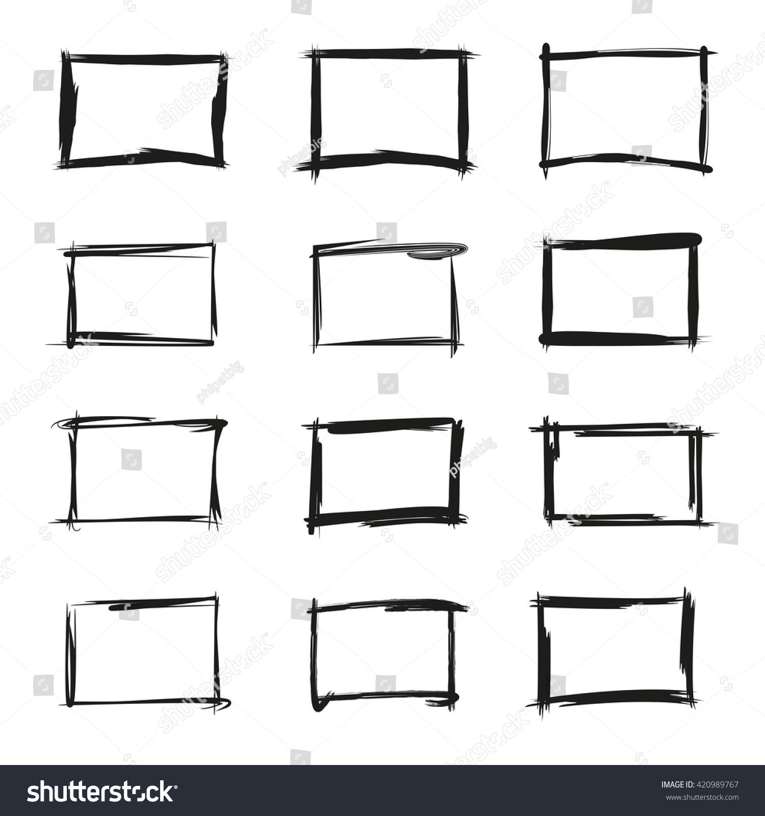 Grunge Rectangle Frame Blank Frame Border Stock Vector 420989767 ...
