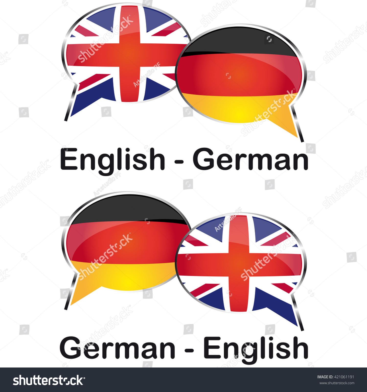 English German Cloud Translation Stock Vector Royalty Free 20