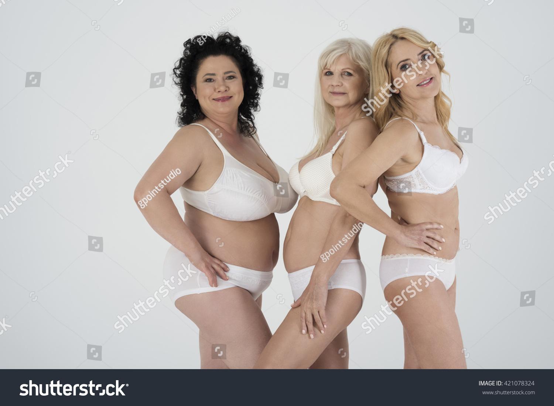 portrait beautiful mature women underwear stock photo (safe to use