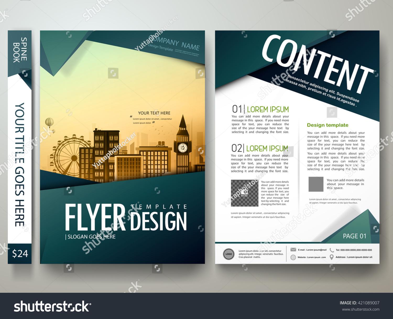 Flyers Design Template Vector Modern Brochure Stock Vector