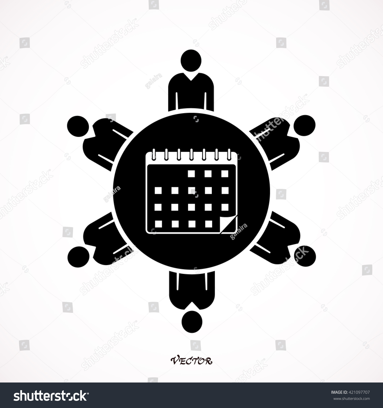 Calendar Meeting Icon