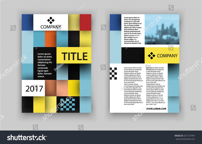 concept square design photo frame vector stock vector  concept of square design photo frame vector illustration brochure template for real estate