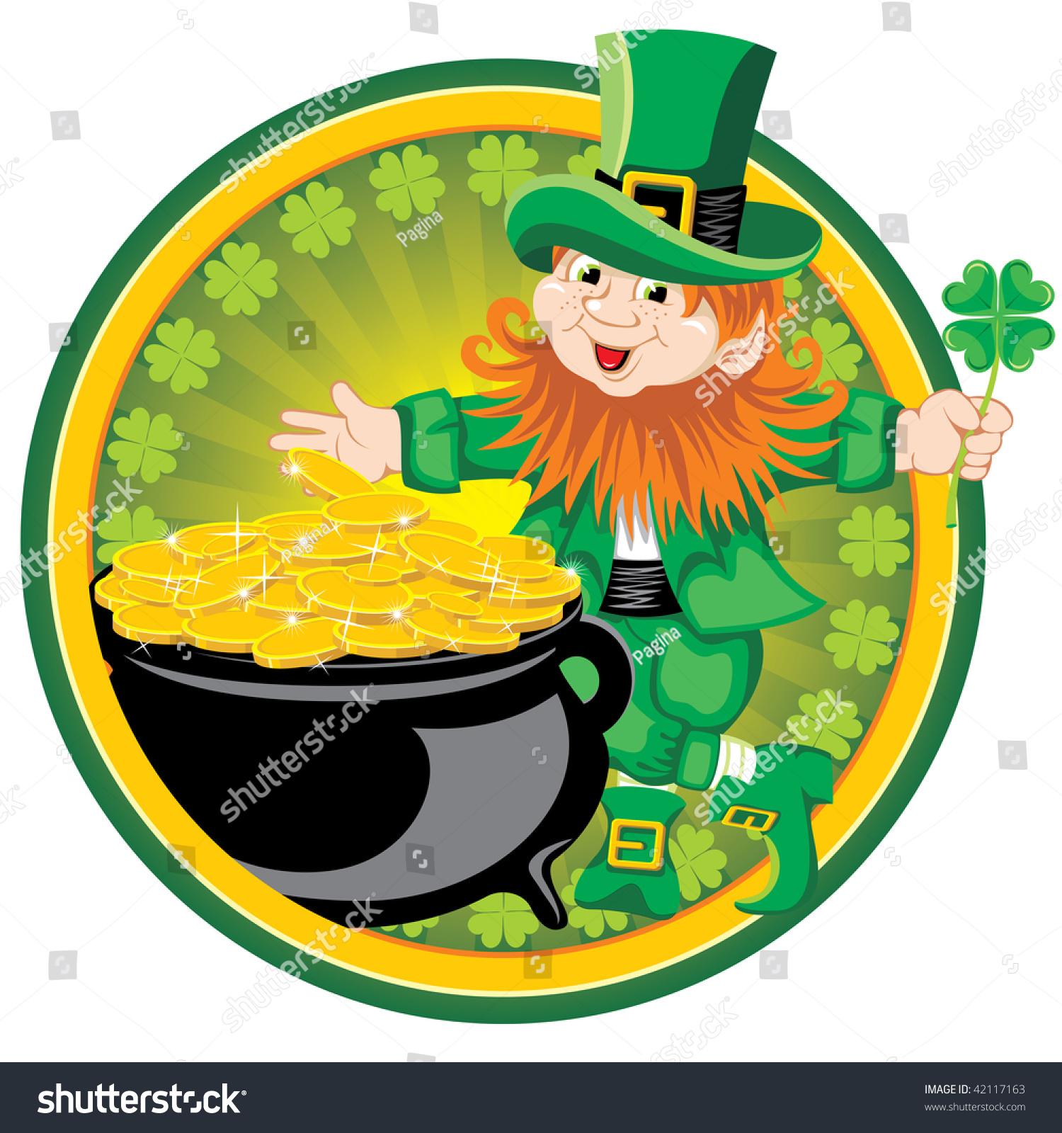 st patricks day cheerful leprechaun vector stock vector 42117163