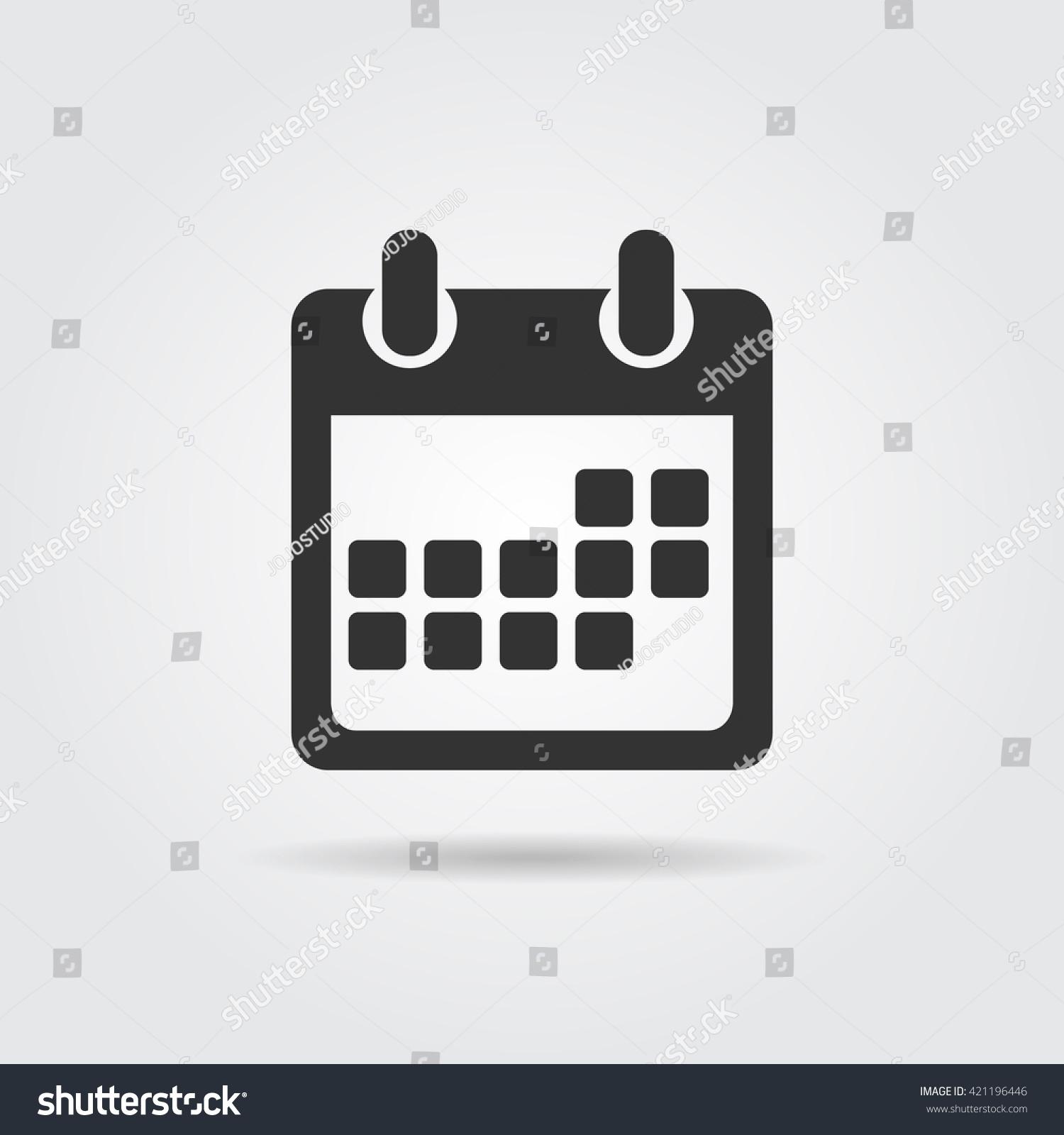 Calendar Flat Illustration : Calendar icon flat design vector illustration