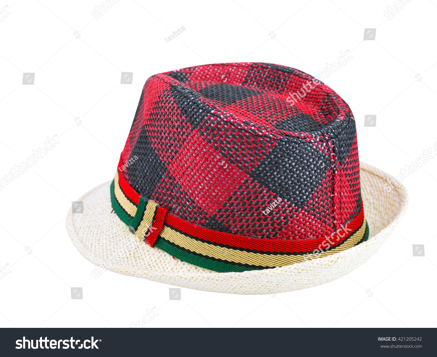2c7bd9b88e6 Weave Hat Isolated On White Background Stock Photo (Edit Now ...
