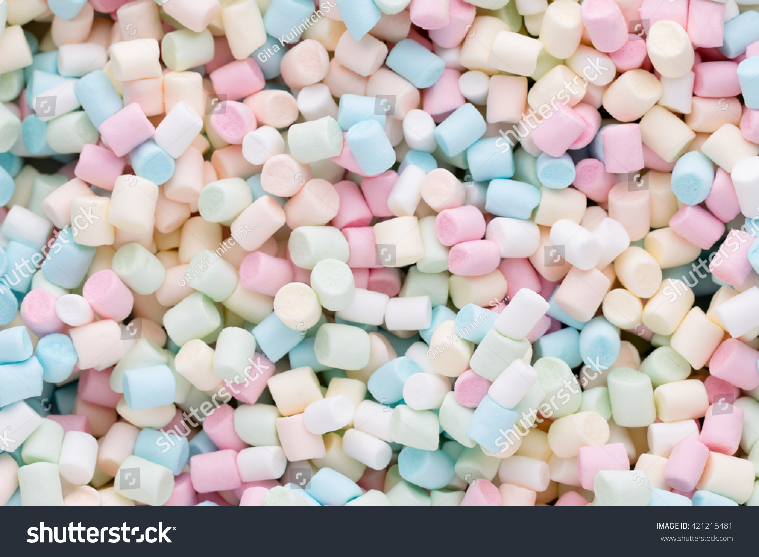 Marshmallows Background Or Texture Of Colorful Mini Marshmallow Id 421215481