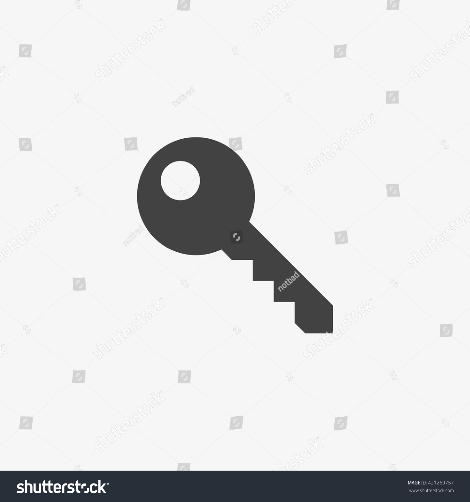 Key Icon Trendy Flat Style Isolated Stock Vector Royalty Free