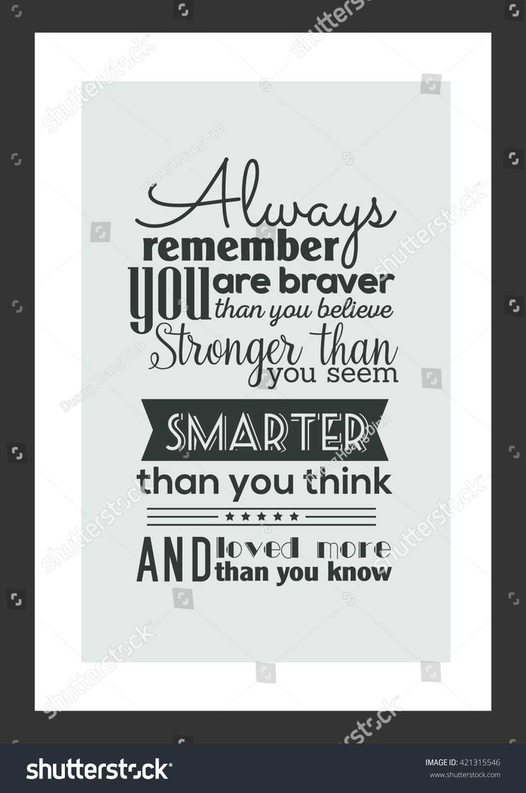 Life Quote Always Remember You Braver Stockvector Rechtenvrij
