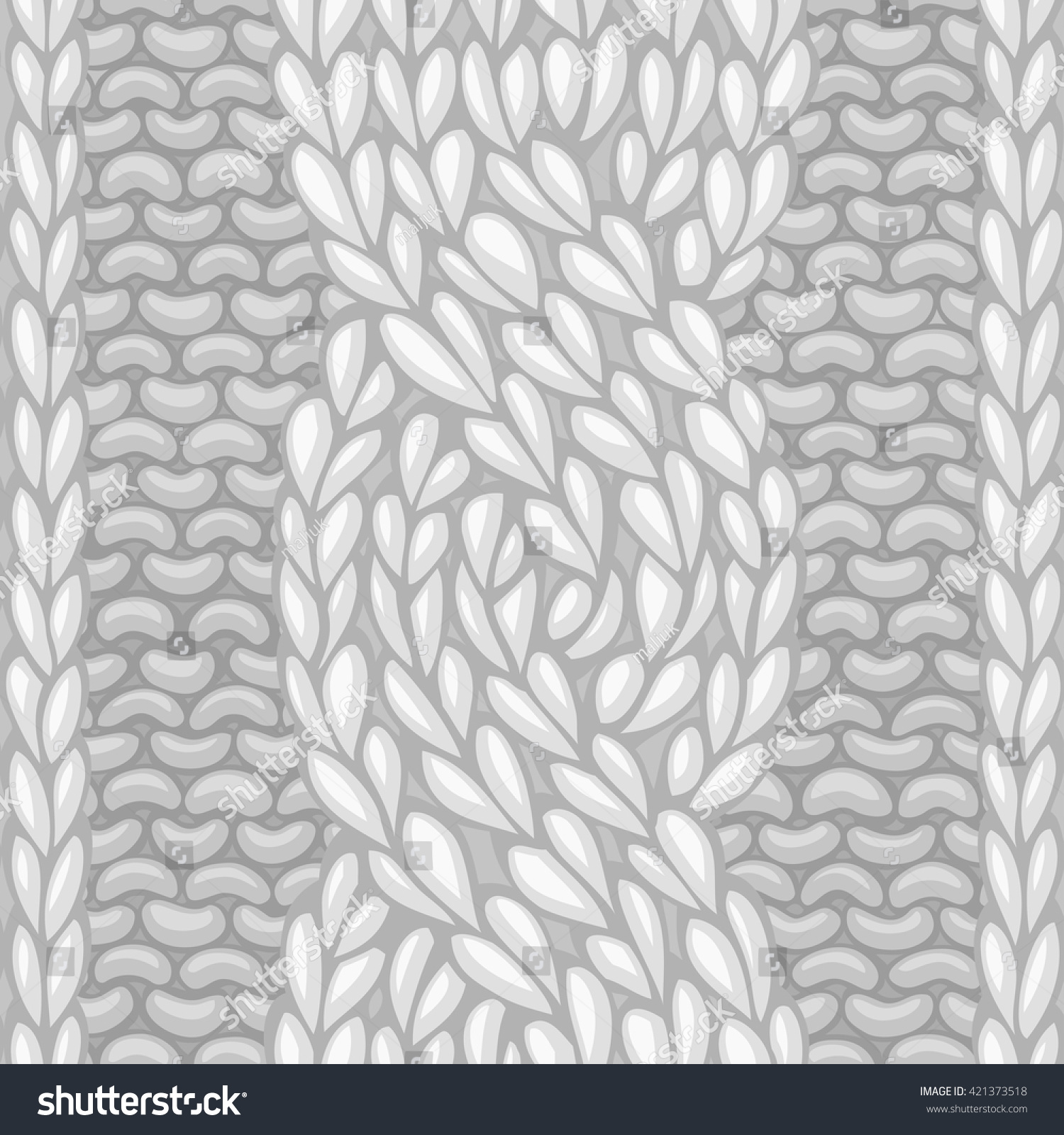 Six Stitch Cable Stitch Vector Lefttwisting Rope Stock Vector ...