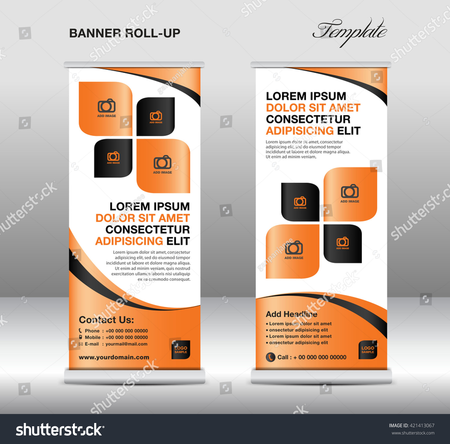 roll up banner template stand design banner template orange roll up banner template stand design banner template orange banner advertisement