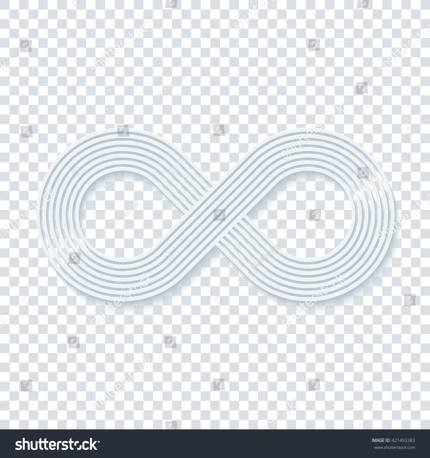 Infinity symbol on transparent background vector stock vector infinity symbol on transparent background vector eps10 buycottarizona Choice Image