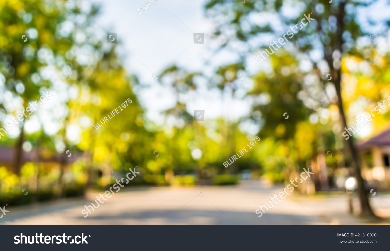 Blur Image Road House Village Background Stock Photo Edit Now 421516090