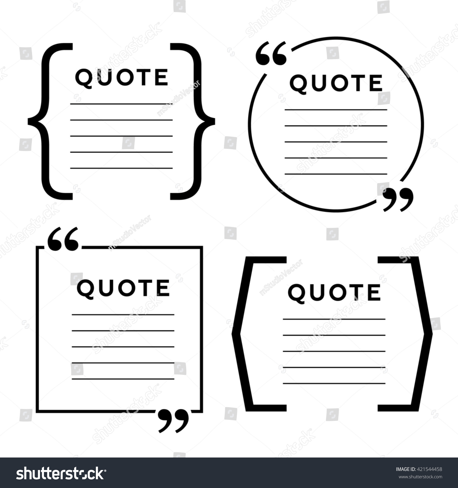 Quote blank template quote bubble empty stock illustration 421544458 quote blank template quote bubble empty template circle business card template paper accmission Choice Image