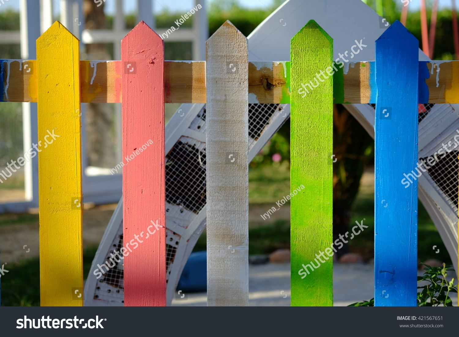 wood picket fence texture. Old Colorful Wooden Fence Texture, Bright Background Wood Picket Texture