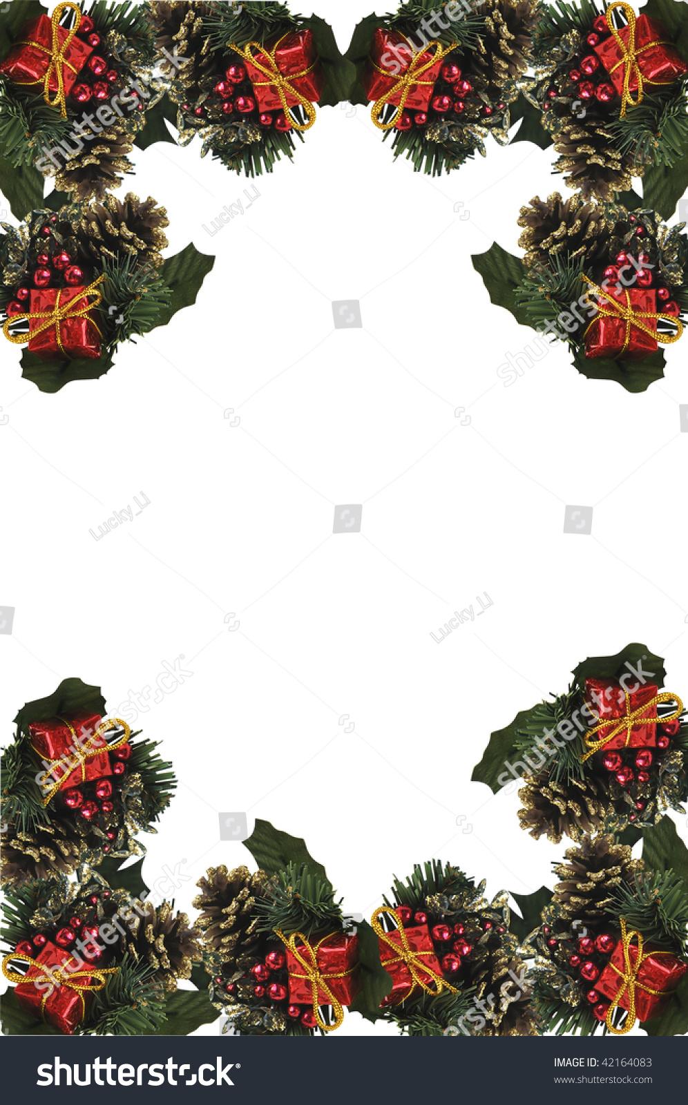 Vertical Christmas Border Stock Photo 42164083 Shutterstock
