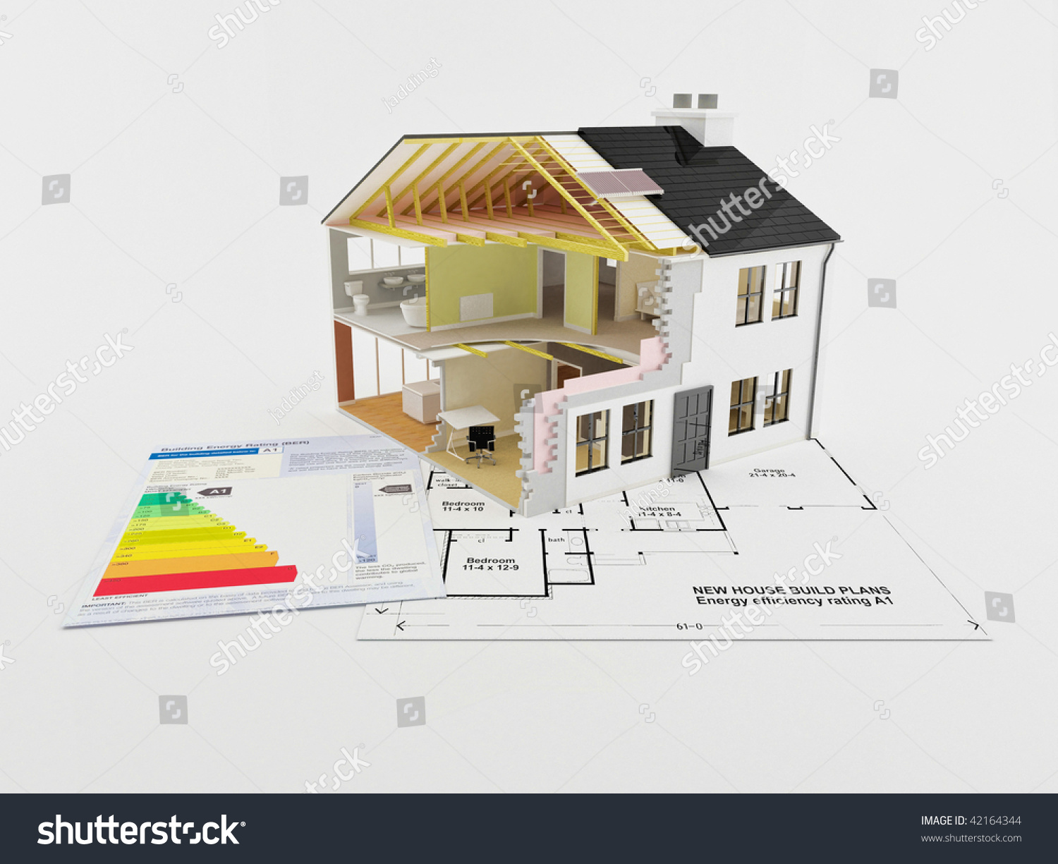 Image New Home Energy Saving Certificate Stock