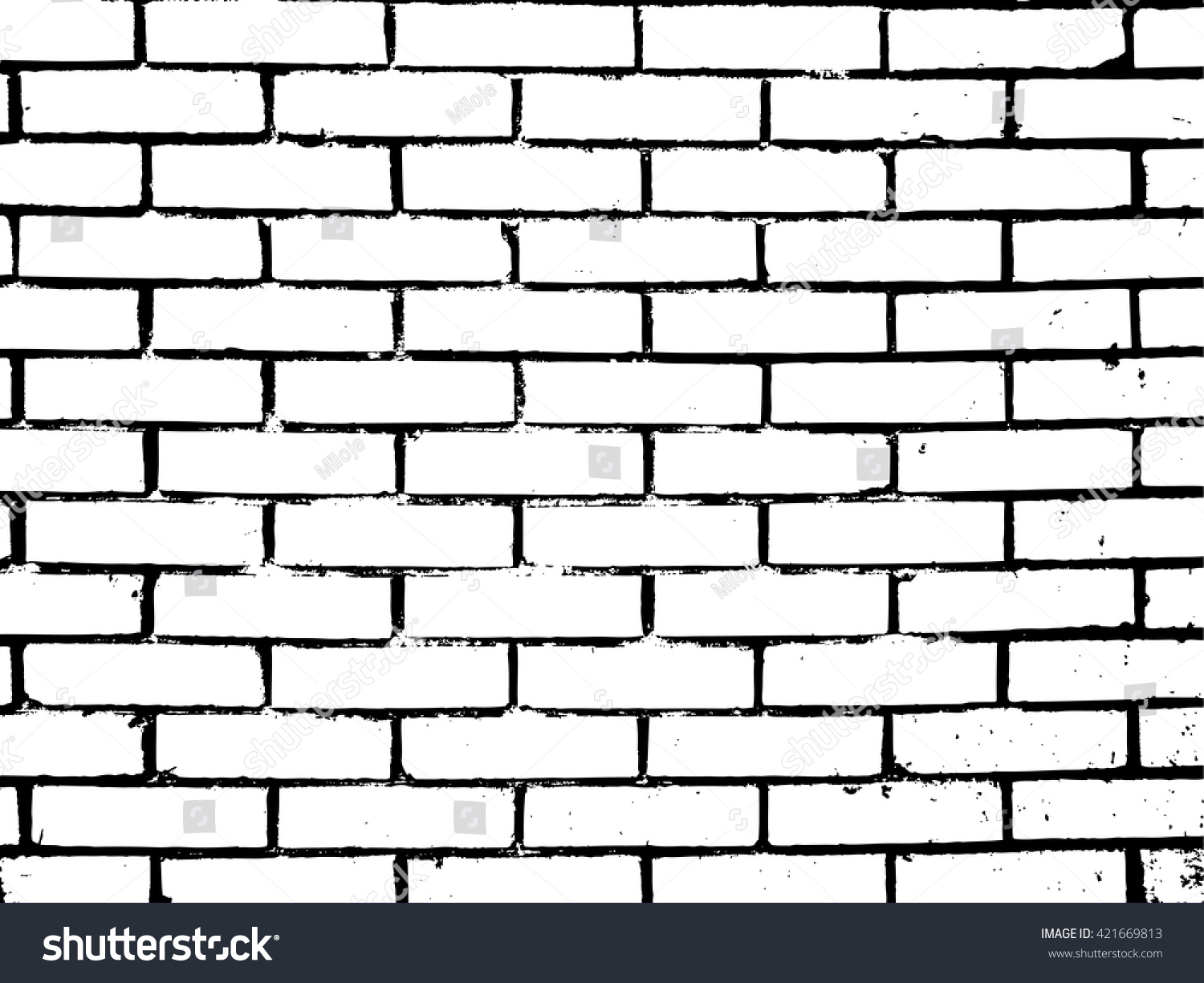 Brick Texture EffectGrunge Wall Background Vector Illustration