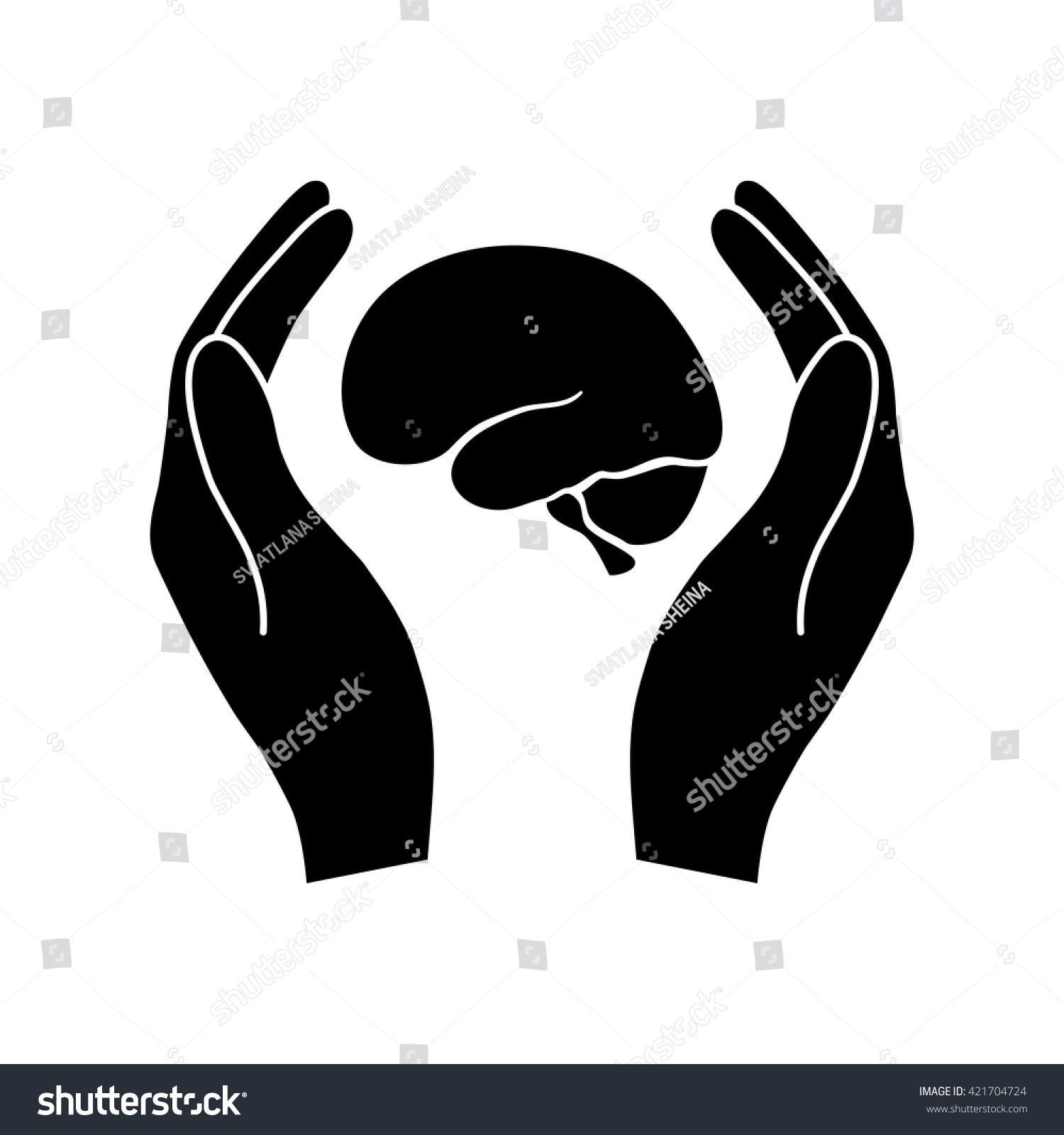 Hands holding brain protection symbol stock vector 421704724 hands holding brain protection symbol biocorpaavc
