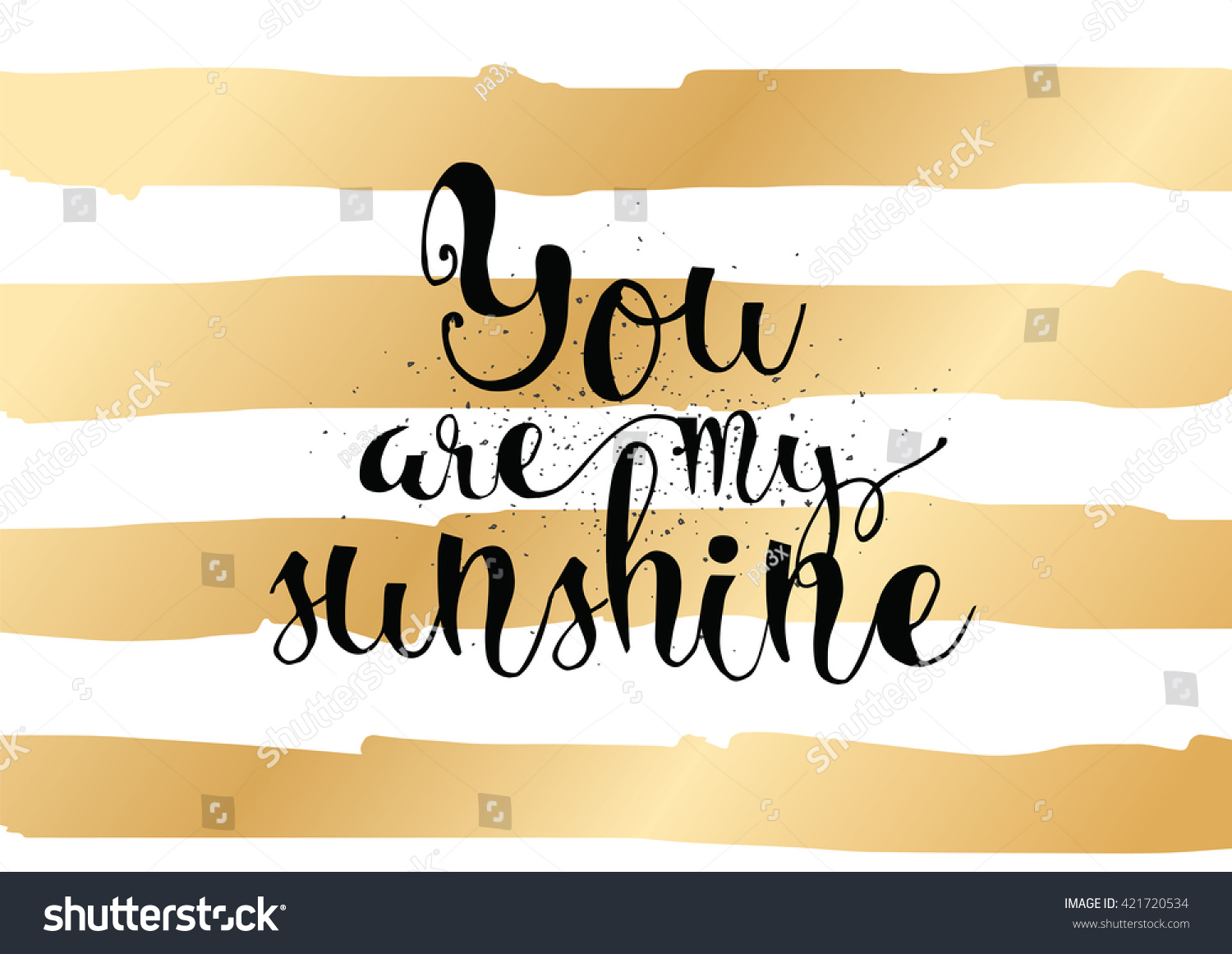 You are my sunshine inscription greeting card with