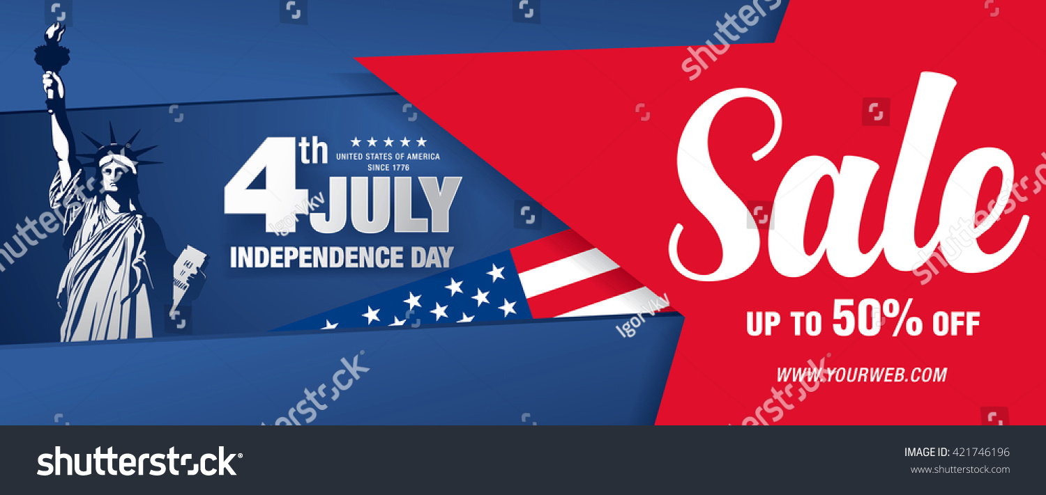 independence day usa banner template stock vector  independence day of the usa banner template design