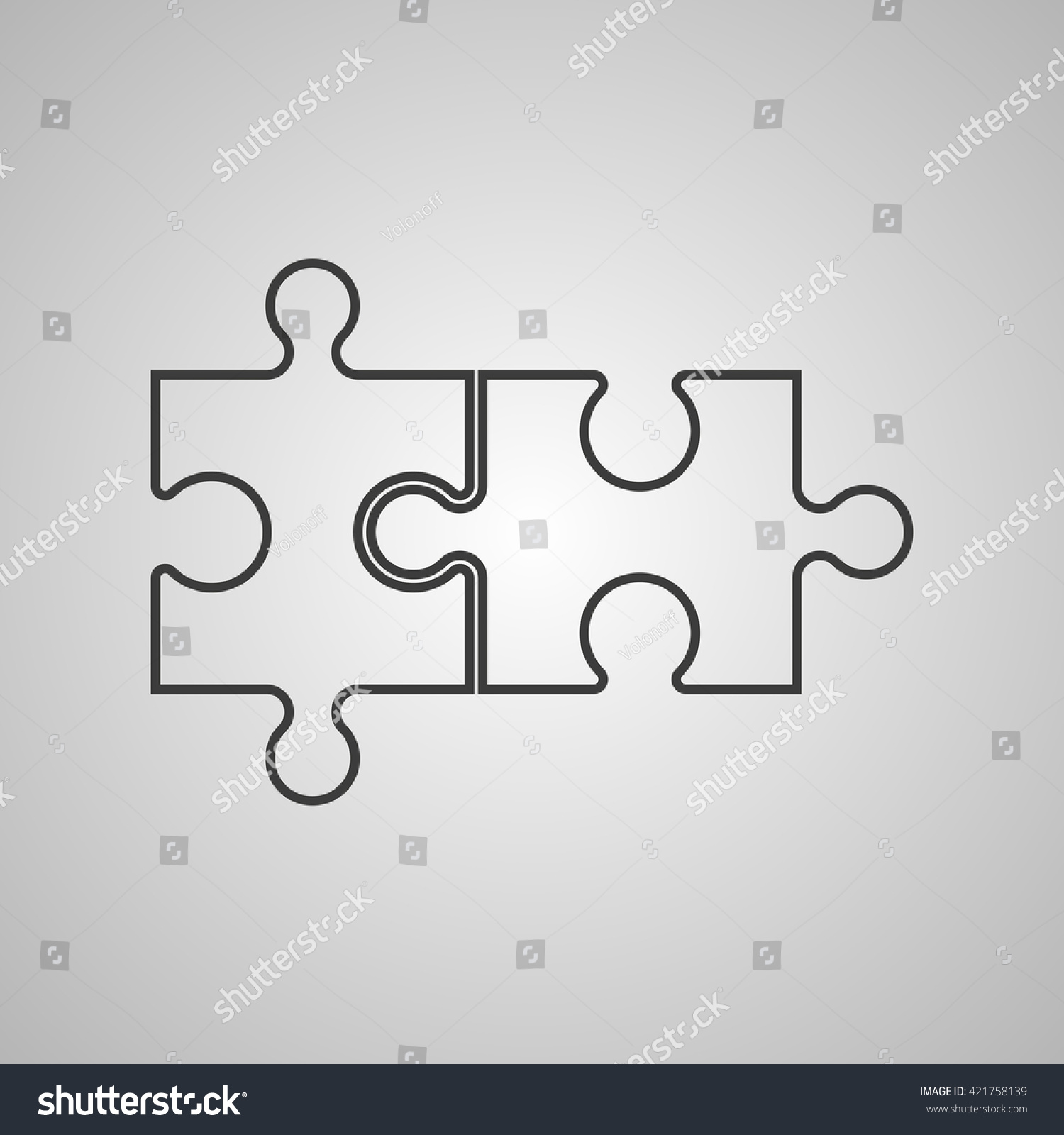 Double Piece Flat Puzzle Round Infographic Stock Vector (Royalty ...