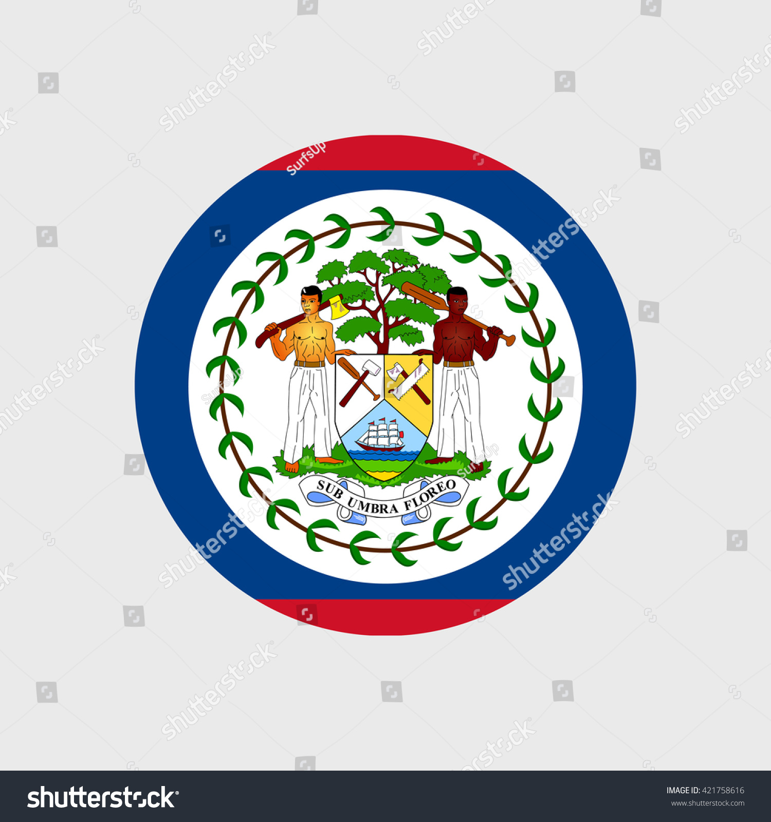 Belize national flag stock vector 421758616 shutterstock belize national flag biocorpaavc Image collections