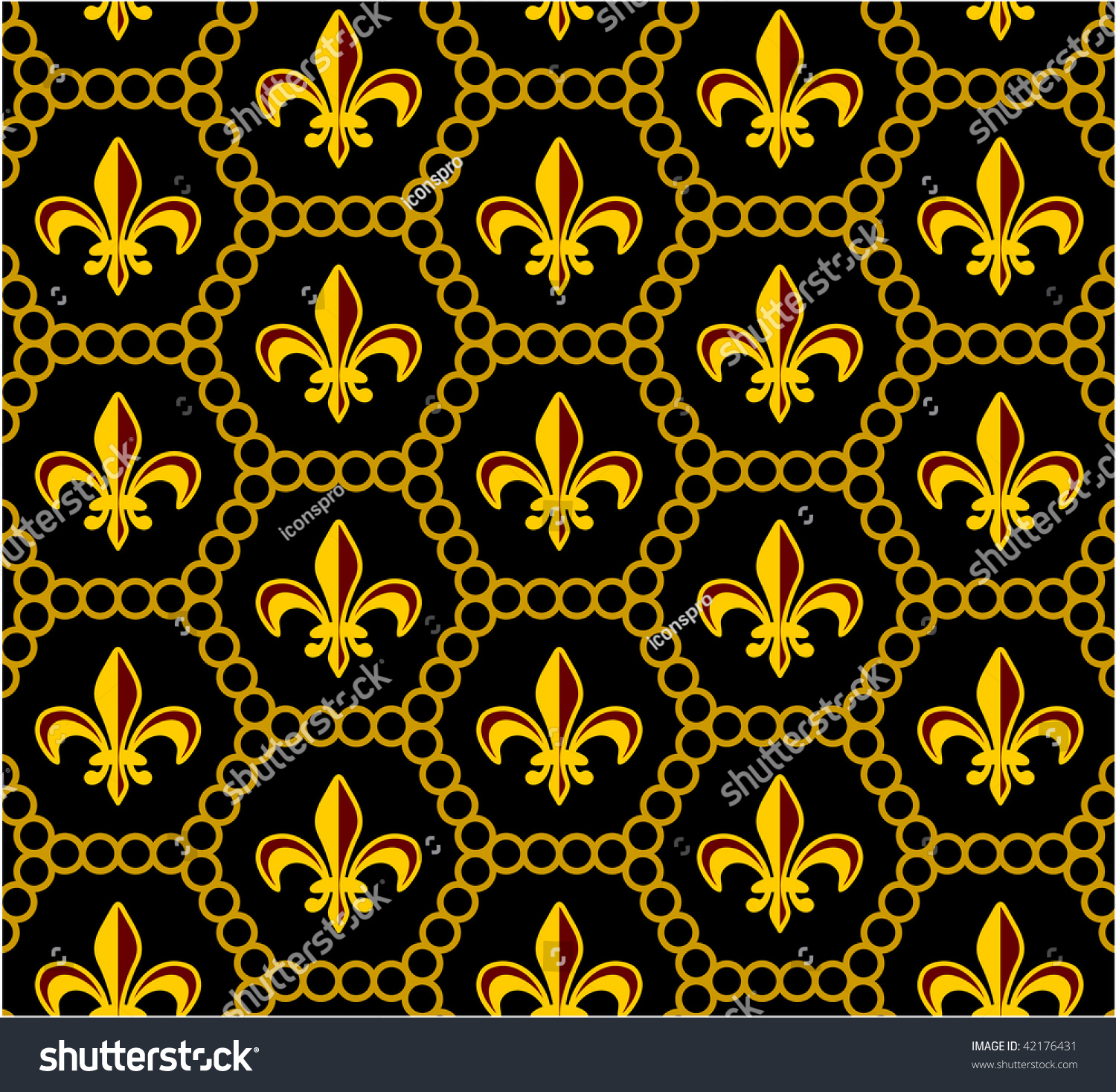 fleur de lis design pattern stock vector illustration 42176431 shutterstock. Black Bedroom Furniture Sets. Home Design Ideas