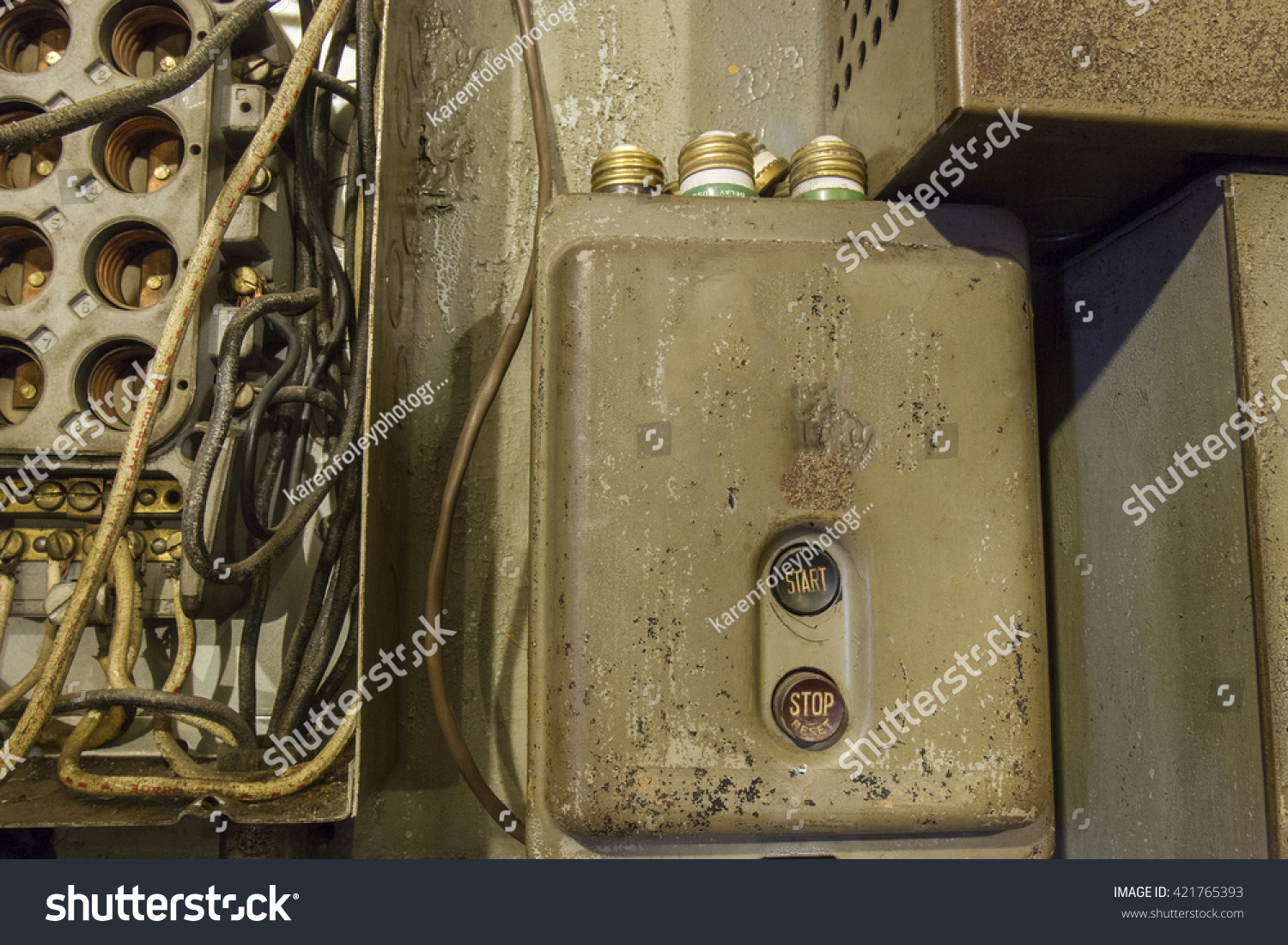 vintage fuse box fuses on top stock photo edit now 421765393 rh shutterstock com vintage car fuse box vintage fuse box cover