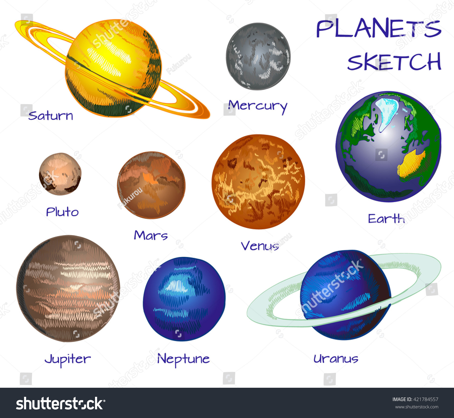inner outer planets coloring - photo #25