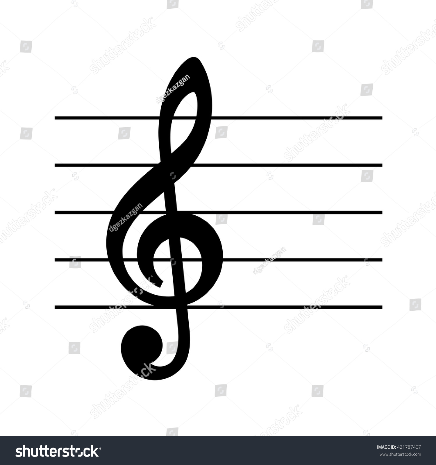 Vector Musical Key Icon Set Music Stock Vector Royalty Free