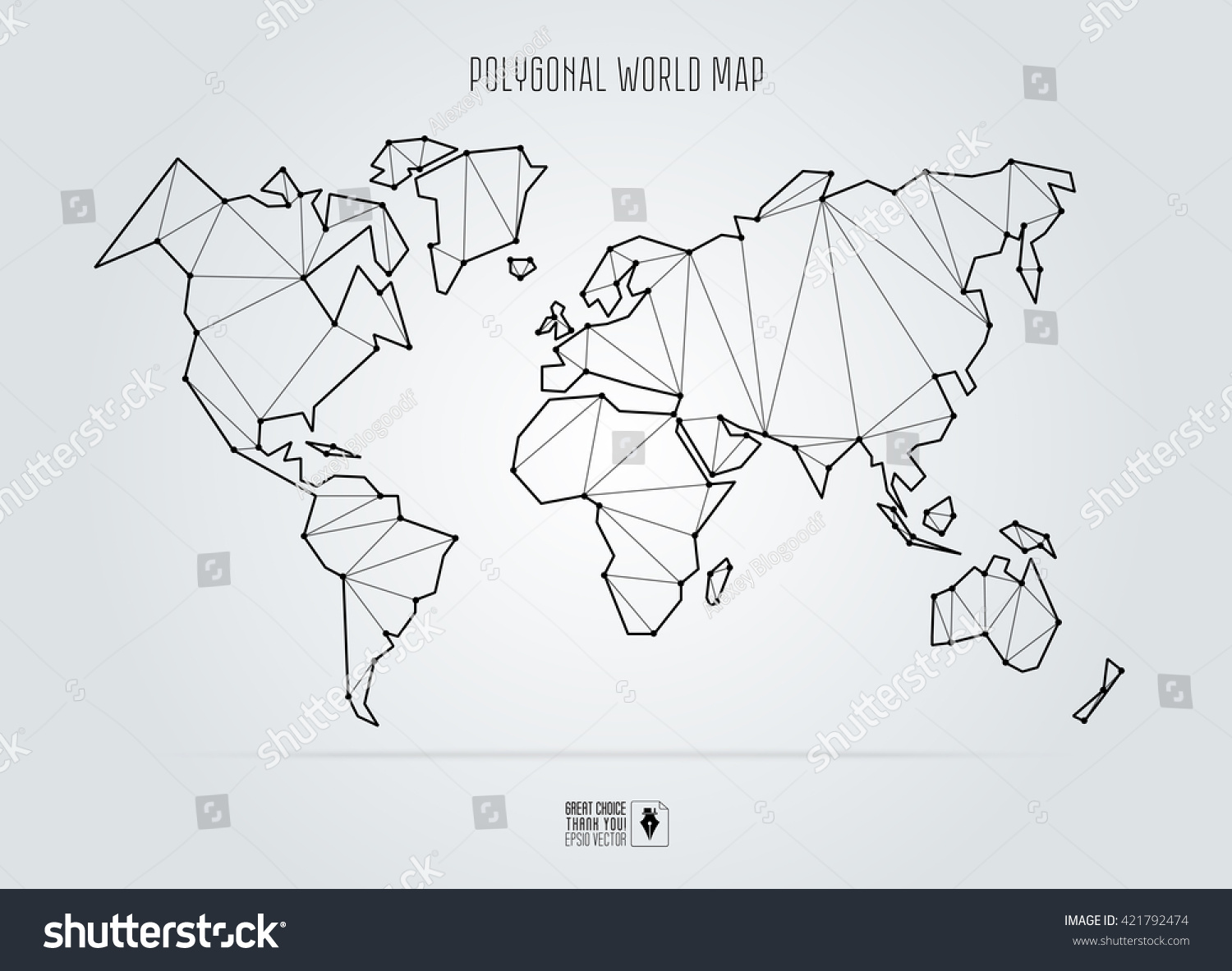 Polygonal abstract world map vector illustration vectores en stock polygonal abstract world map vector illustration gumiabroncs Image collections