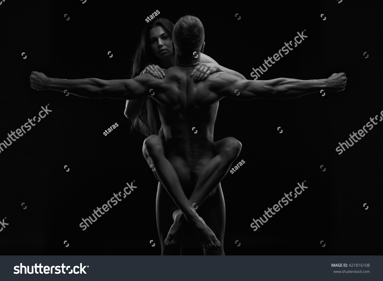 Nude sexy couple dance