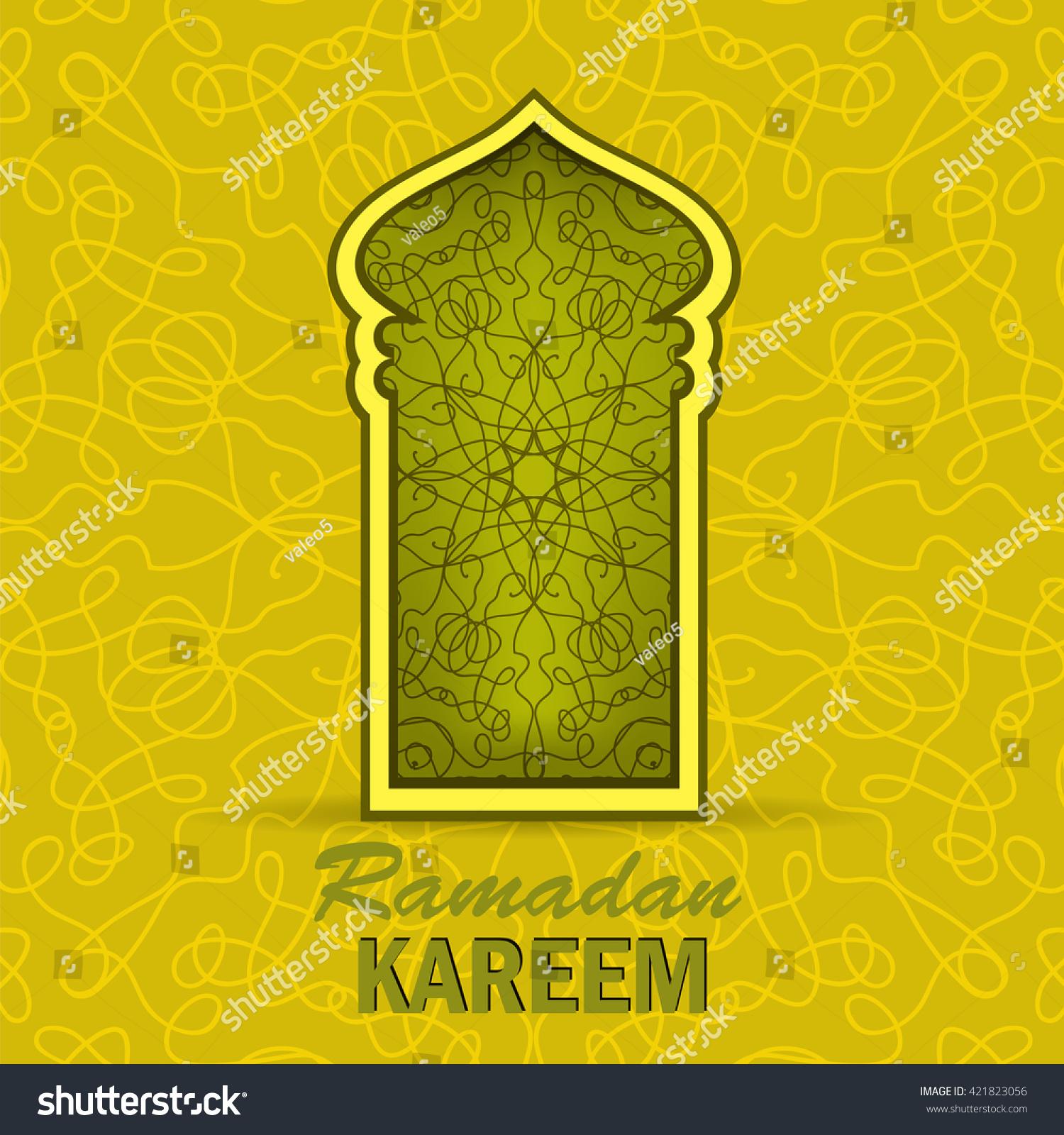 Vector ramadan greeting card on yellow stock vector 421823056 vector ramadan greeting card on yellow ornamental background ramadan kareem holiday kristyandbryce Image collections
