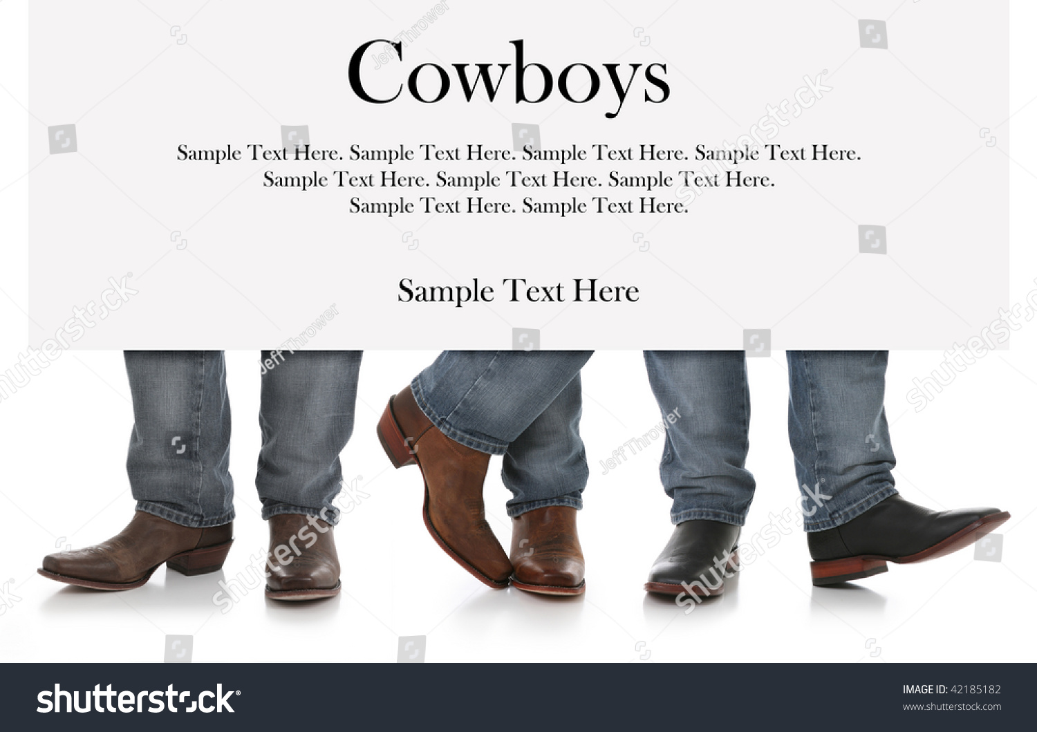 Three Men Cowboy Boots Sign Above Stock Photo 42185182 - Shutterstock